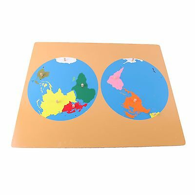 CLEARANCE NEW Montessori Geography Material- Puzzle Map of World