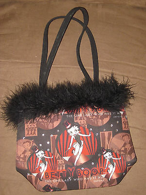 Betty Boop Broadway Faux Fur Purse Handbag 'The One Lady Who Has It All'