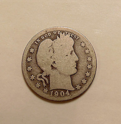 1904-O Barber Quarter - Better Date - Nice Looking Coin