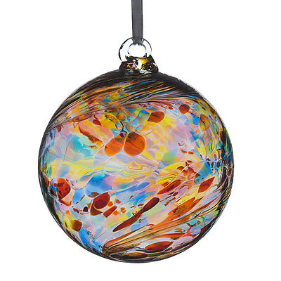 Glass Friendship or Witches Ball, 12cm Multi Coloured By Sienna