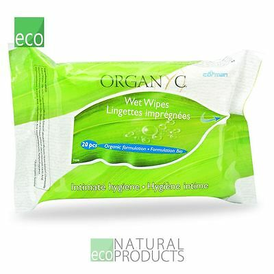 Organyc Intimate Wet Wipes 20 pieces