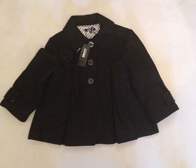 Dkny Grils Swing Jacket Black 12 Years Rrp £105 Now £29.50