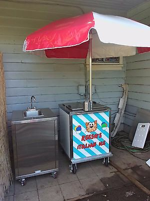 New Italian Ice Cart and Sink. Start your own Italian Ice business!