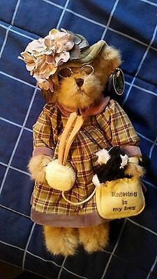 """Mrs. Knitter and Pearl BEARINGTON COLLECTION BEAR 14"""" Tall"""