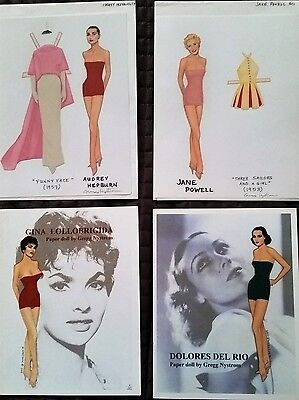SET of 2009 PAPER DOLL CONVENTION by GREGG NYSTROM GINA LOLLOBRIGIDA.++