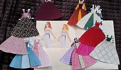 ANNE and MARY BOLEYN Paper Dolls and 15 Gowns by PAT O'ROURKE Limited Ed. of 20