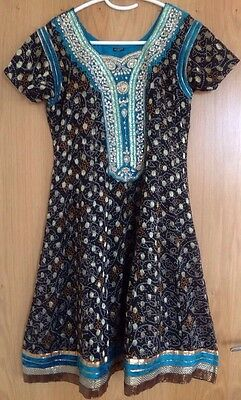 Indian Suit Churidaar Suit Asian Suit Bollywood Dress Long Suit Black/teal