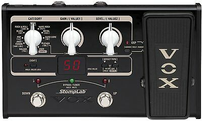 Vox Stomplab 2G Electric Guitar Multi-Effects Modeling Expression Pedal