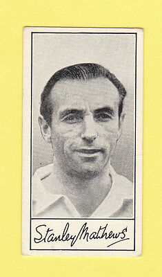 Football - Barratt - Football Card -  Stanley  Matthews  Of  Blackpool  -  1958