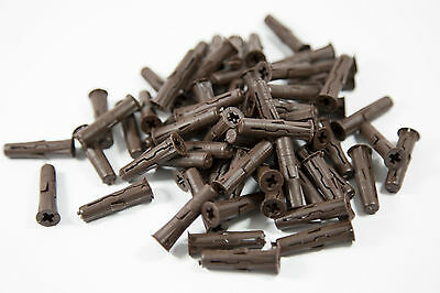 BROWN RAWL PLUGS 7mm x 30mm