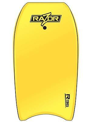 "Razor 39"" Bodyboard From Ocean & Earth Body Board In Yellow For Surfing"