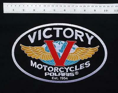 """Large 9.5"""" Victory Motorcycles Motorcycle Biker Rider Vest Jacket Shirt Patch"""