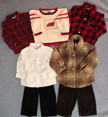 Boys Winter Clothes, Size 12 Months, Lot of 7 Pieces