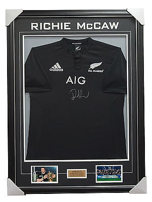 Richie McCaw Signed All Blacks Jersey Framed - World Cup Champions 2011 & 2015