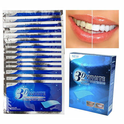 28X 3D Teeth Whitening Strips Professional Tooth Rapid Bleaching Whitestrips