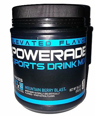 3 PACK -  Powerade Sports Drink Mix MOUNTAIN BERRY BLAST Makes 2 Gallons Each
