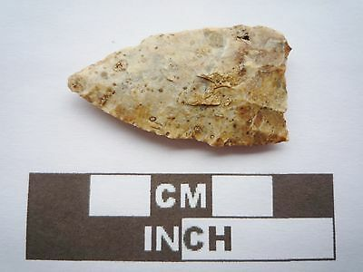 Neolithic Arrowhead 36mm, High Quality Saharan Flint Artifact - 4000BC  (Q037)