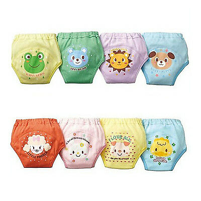 4 X Baby Toddler Girls Cute 4 Layers Waterproof Potty Training Pants reusable SN