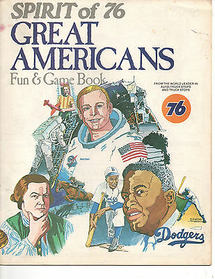 UNION 76 GREAT AMERICANS FUN & GAME BOOK For Kids Neil Armstrong Jackie Robinson