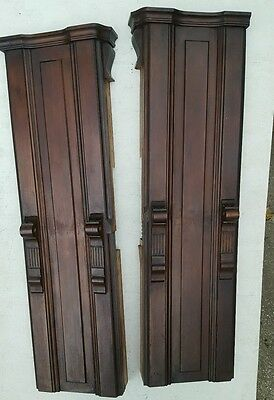 Antique Architectural Columns Post Walnut Accent Pieces