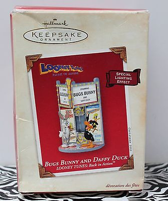 BUGS BUNNY & DAFFY DUCK Looney Tunes Hallmark Ornament Back in Action 2003 NEW