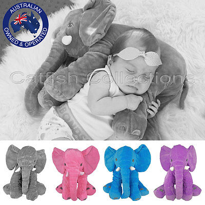 Baby Children Soft Plush Sensory Stuffed Toys Infant Elephant Lumbar Pillow