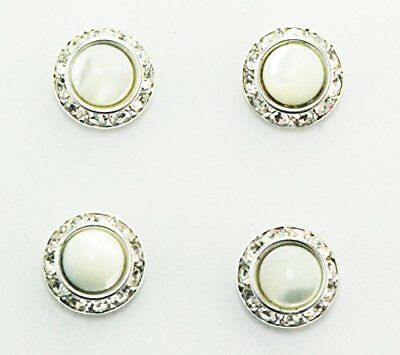 Finishing Touch Magnetic Tack Pin - Mother of Pearl Stone - Silver Finish