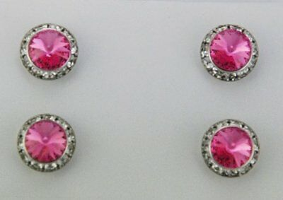 Finishing Touch Magnetic Tack Pin - Pink Stone - Silver Finish