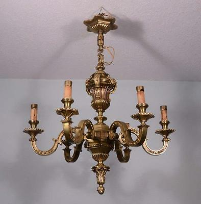 Large Antique French Bronze Chandelier (Hanging Lamp)