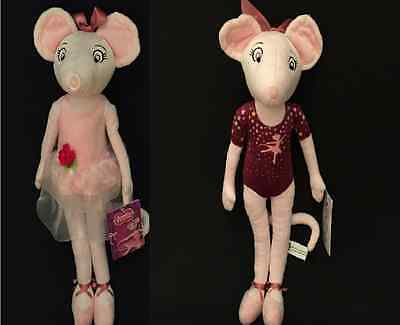 "17"" (43Cm) Angelina Ballerina Soft Plush Toy/doll - 2 To Choose From - Gift Idea"
