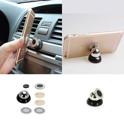 Universal 360° Car Mount Sticky Magnetic Stand Holder For Cell Phone GPS Black