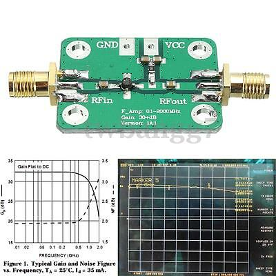 0.1-2000MHz RF Wideband Amplifier Broadband Module Receiver 30dB low-noise New