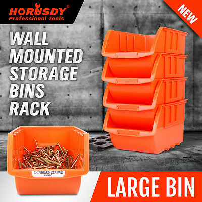 Wall Mounted Bins Rack Storage Parts Organiser Bin Boxes Workshop Large Solution
