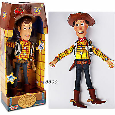 """16"""" WOODY Talking Doll Toy Story 3 Pull String Figure Sheriff Cow Boy XMAS GIFTS"""