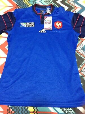 France 2015 Rugby World Cup Jersey Mens Large - BNWT - Adidas