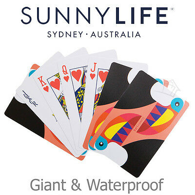 NEW SunnyLife Toucan Giant Playing Cards Waterproof Heavy-Duty PVC Outdoor