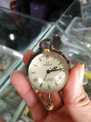 CHINESE OLD BRASS GLASS Pocket Watch BALL Clock
