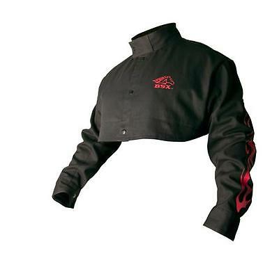 Revco BSX BX21CS Black 9 oz. FR Cotton Cape Sleeves W/ Red Flames, 2X-Large