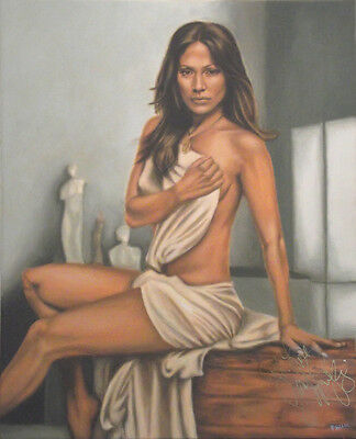 JENNIFER LOPEZ Painting, AUTOGRAPHED by Her - video proof