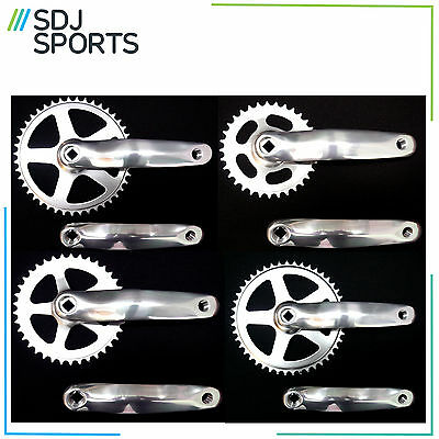 "Alloy Single Speed Bike Crankset. Single 3/32"" Chainset Square Taper Fit Crank"
