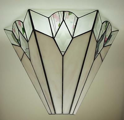 Handmade Stained Glass Wall Hanging Sconce Light Fixture MJ2