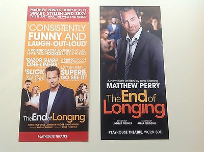 2 x Flyer THE END OF LONGING Playhouse Theatre Matthew Perry NEW 2016