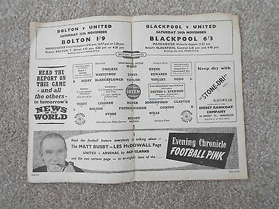 Manchester United - Busby Babes - Football Programme 1955/56 Duncan Edwards