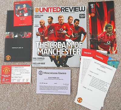 Manchester United - Signed programme and hospitality package Feb 2003 P Scholes