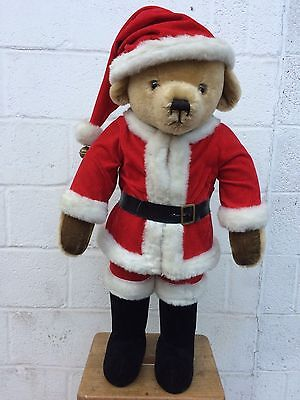 Merrythought Father Christmas Teddy Bear - 3ft - 1980's