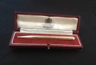 Asprey And Co Ltd 9ct Gold Boxed Hallmarked Pencil