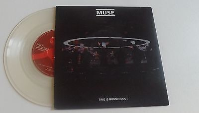 """Muse Time Is Running Out 7"""" Clear Vinyl 2003"""