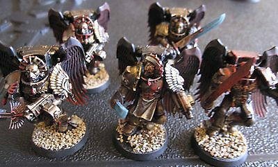 40K Space Marines Blood Angels Flesh Tearers Sanguinary Guard squad painted