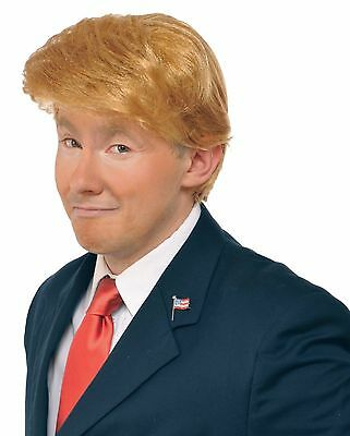 Donald Trump Wig Adult Costume Accessory Billionaire Hair Candidate Fancy Dress.