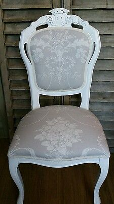 Laura Ashley 'Josette' Dove grey  louis french style boudoir chair